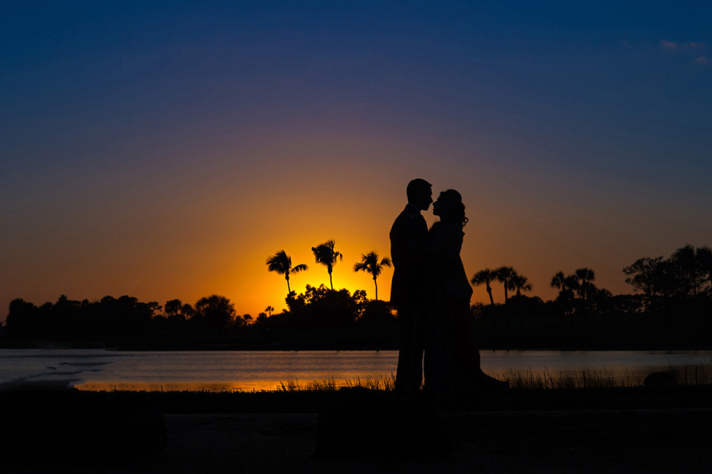 Elegant Sunset Bridal Portrait | The Majestic Vision Wedding Planning | PGA National in Palm Beach, FL | www.themajesticvision.com | Haring Photography