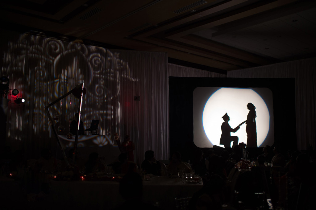 Elegant Silhouette First Dance for Indian Wedding Reception | The Majestic Vision Wedding Planning | PGA National in Palm Beach, FL | www.themajesticvision.com | Haring Photography