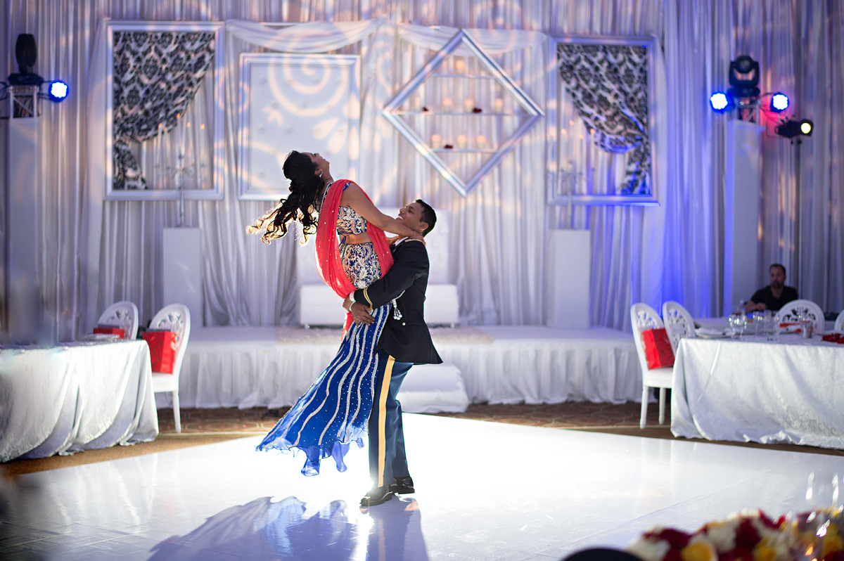 Elegant First Dance for Indian Wedding Reception | The Majestic Vision Wedding Planning | PGA National in Palm Beach, FL | www.themajesticvision.com | Haring Photography