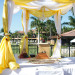 Yellow and White Mundap for Indian Wedding Ceremony at PGA National in Palm Beach, FL thumbnail