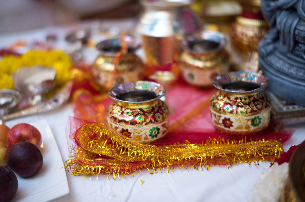 Colorful Jars for Indian Wedding Ceremony | The Majestic Vision Wedding Planning | PGA National in Palm Beach, FL | www.themajesticvision.com | Haring Photography