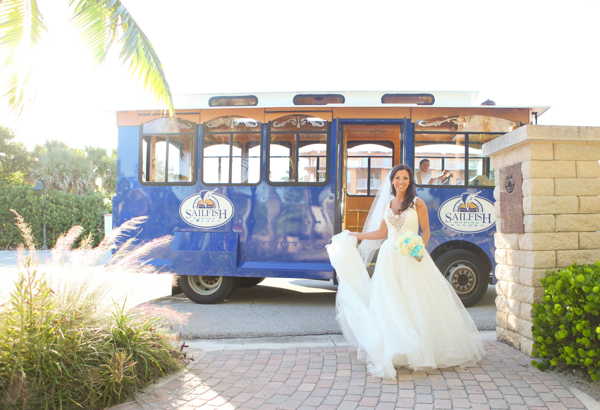 Elegant Bride Wearing Enzoani Bridal Gown | The Majestic Vision Wedding Planning | Palm Beach Shores in Palm Beach, FL | www.themajesticvision.com | Krystal Zaskey Photography