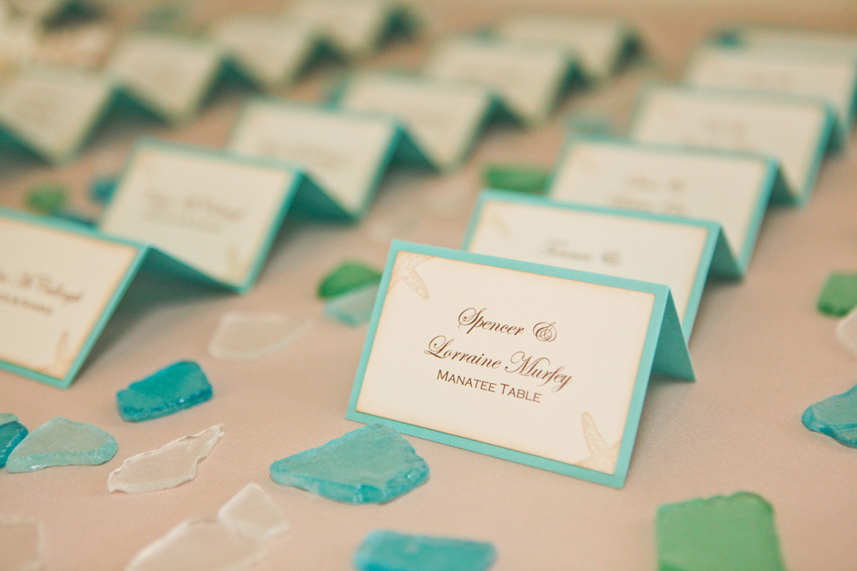 Elegant Beach Theme Escort Card | The Majestic Vision Wedding Planning | Palm Beach Shores in Palm Beach, FL | www.themajesticvision.com | Krystal Zaskey Photography