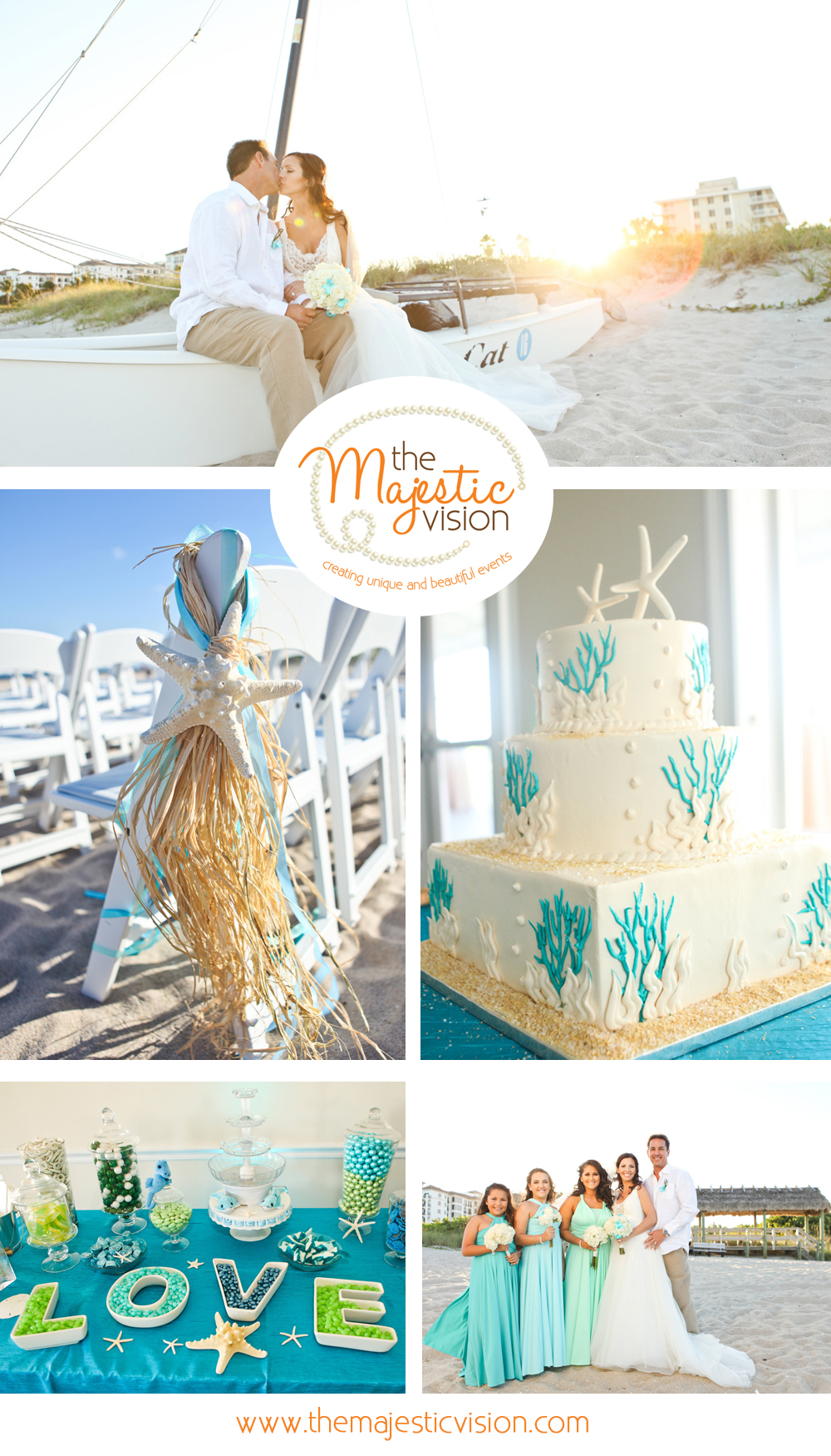 Whimsical and Elegant Beach Wedding | The Majestic Vision Wedding Planning | Palm Beach Shores in Palm Beach, FL | www.themajesticvision.com | Krystal Zaskey Photography