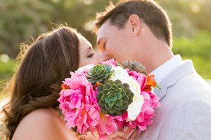 Stunning Succulent and Coral Peony Bridal Bouquet | The Majestic Vision Wedding Planning | Palm Beach Shores Community Center in Palm Beach, FL | www.themajesticvision.com | Chris Kruger Photography