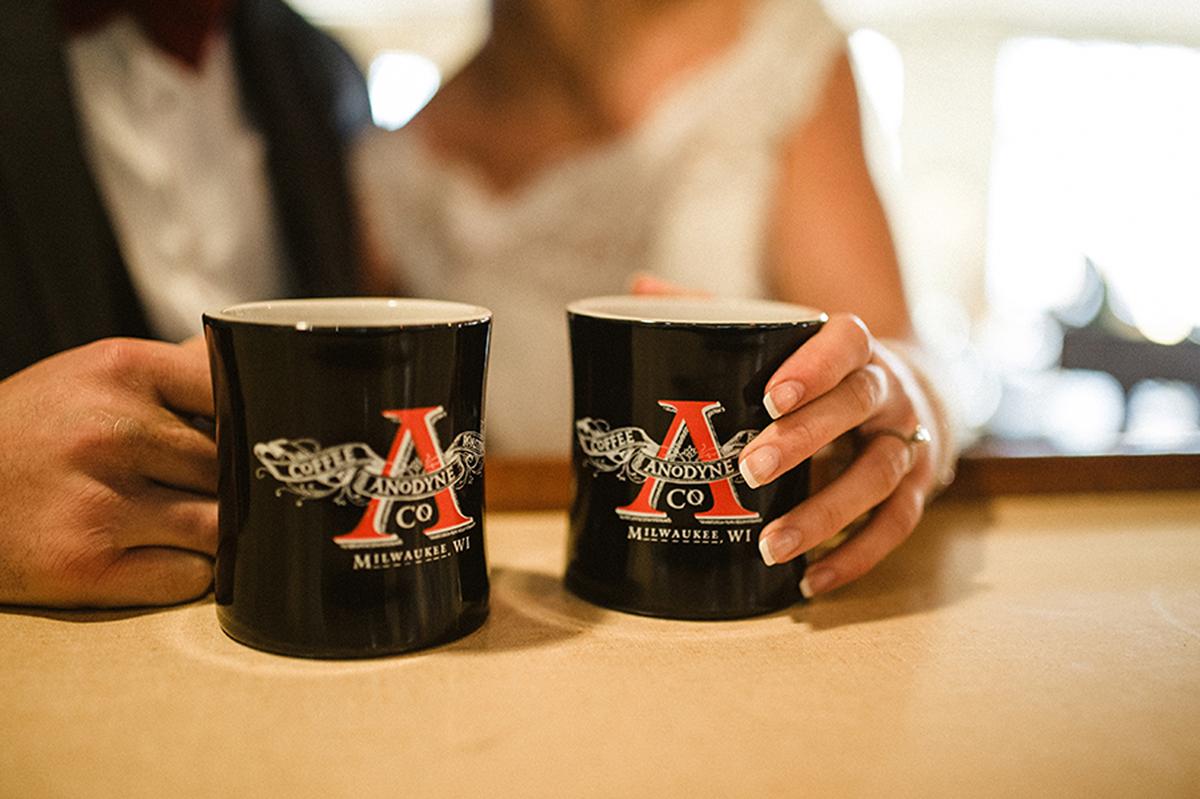 Elegant Coffee Shop Wedding | The Majestic Vision Wedding Planning | Anodyne Coffee in Milwaukee, WI | www.themajesticvision.com | Elizabeth Haase Photography