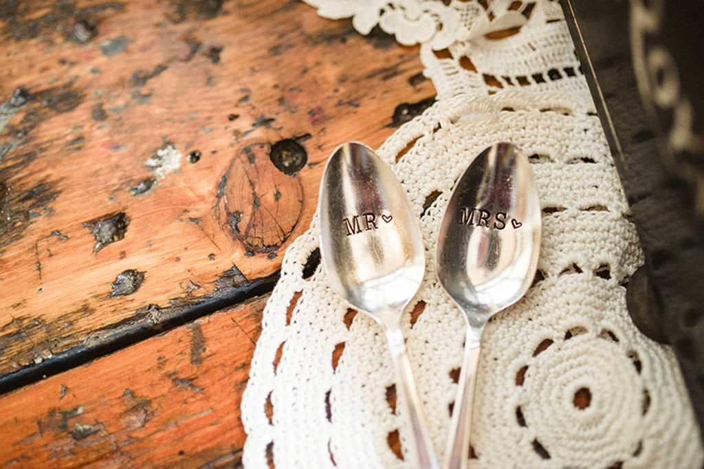 Elegant Personalized Coffee Spoons | The Majestic Vision Wedding Planning | Anodyne Coffee in Milwaukee, WI | www.themajesticvision.com | Elizabeth Haase Photography