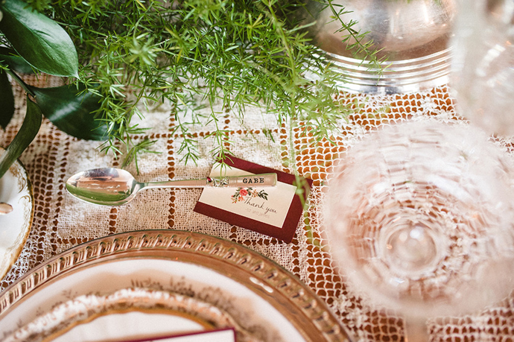 Elegant Personalized Coffee Spoon Guest Favor | The Majestic Vision Wedding Planning | Anodyne Coffee in Milwaukee, WI | www.themajesticvision.com | Elizabeth Haase Photography