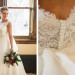 Stunning Bride in Mikaella Gown with Elegant Marsala Bridal Bouquet with Roses and Dahlias at Anodyne Coffee in Milwaukee, WI thumbnail