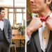 Handsome Groom in Gray Tux with Marsala Bowtie at Anodyne Coffee in Milwaukee, WI thumbnail