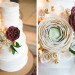 Elegant Marsala and White Wedding Cake at Anodyne Coffee in Milwaukee, WI thumbnail