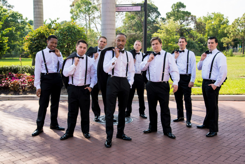 Dapper Groomsmen | The Majestic Vision Wedding Planning | The Borland Center in Palm Beach, FL | www.themajesticvision.com | Enduring Impressions Photography