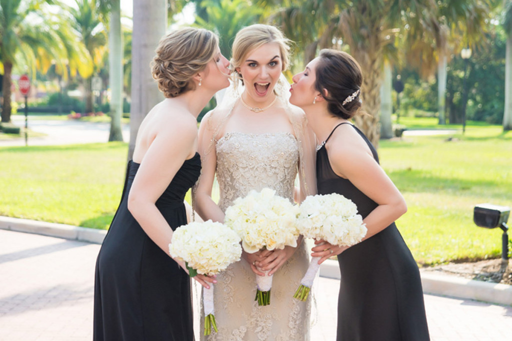Beautiful Bridesmaid and Bride | The Majestic Vision Wedding Planning | The Borland Center in Palm Beach, FL | www.themajesticvision.com | Enduring Impressions Photography