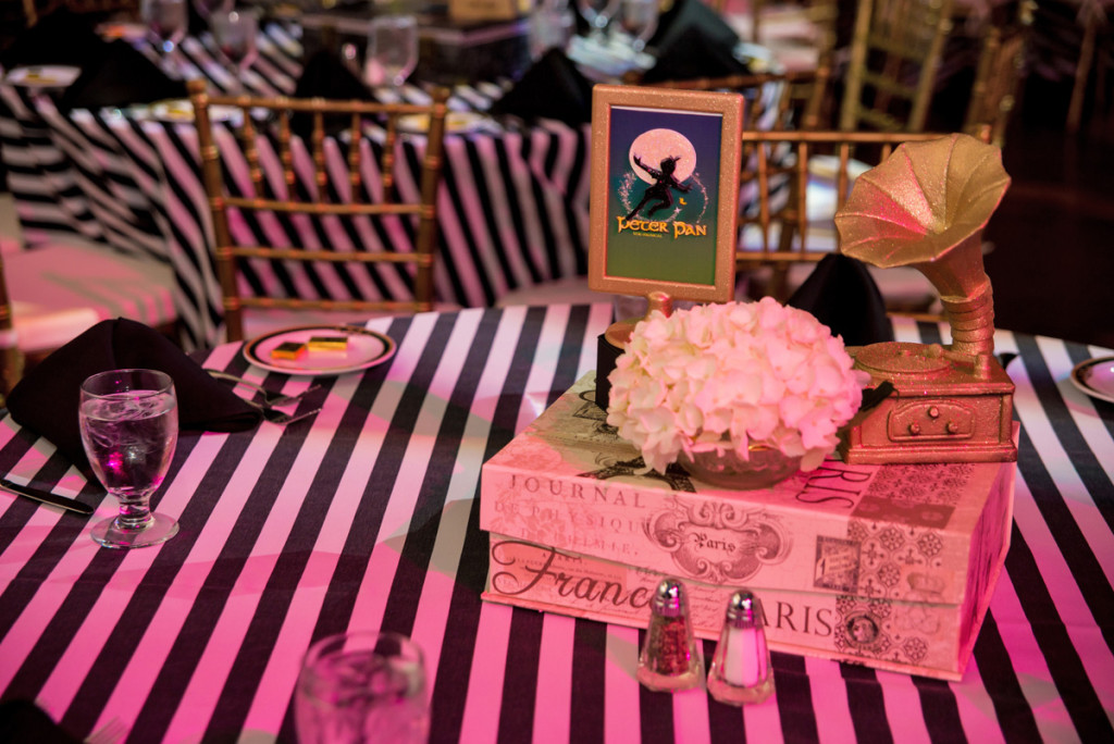 Elegant Broadway Theme Centerpiece | The Majestic Vision Wedding Planning | The Borland Center in Palm Beach, FL | www.themajesticvision.com | Enduring Impressions Photography