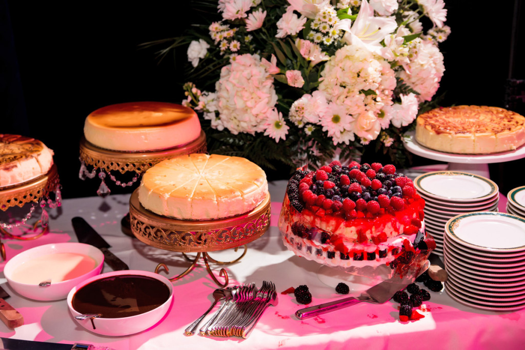 Elegant Cheesecake Dessert Display | The Majestic Vision Wedding Planning | The Borland Center in Palm Beach, FL | www.themajesticvision.com | Enduring Impressions Photography