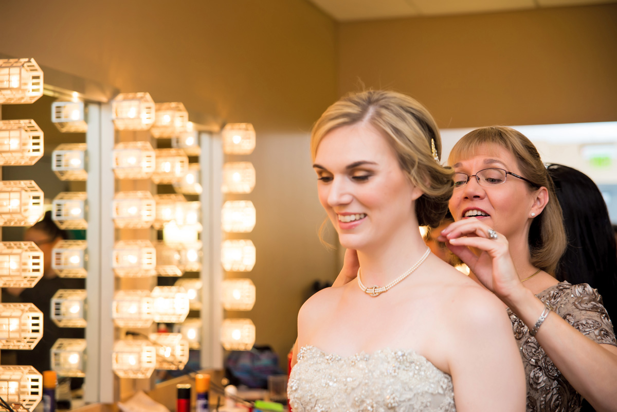 Lovely Bride Getting Ready | The Majestic Vision Wedding Planning | The Borland Center in Palm Beach, FL | www.themajesticvision.com | Enduring Impressions Photography