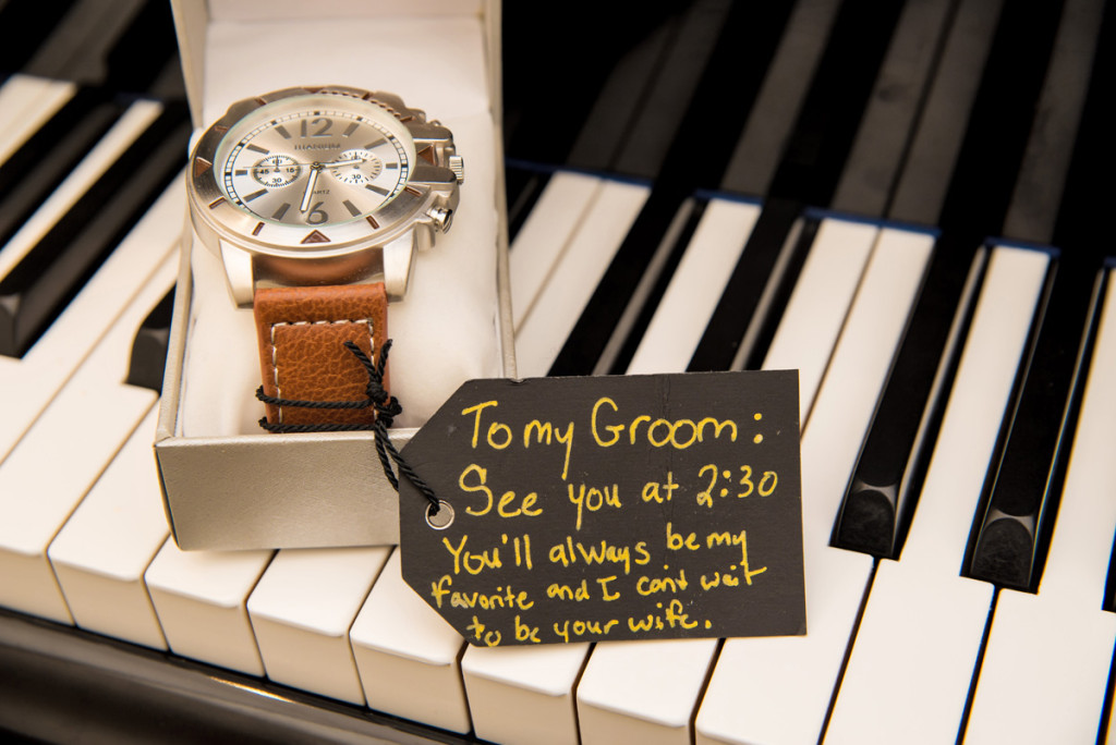 Groom Gift of Watch with Fun Note | The Majestic Vision Wedding Planning | The Borland Center in Palm Beach, FL | www.themajesticvision.com | Enduring Impressions Photography