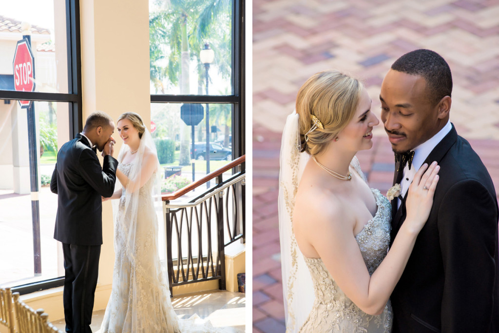 Stunning Interracial Couple Portrait | The Majestic Vision Wedding Planning | The Borland Center in Palm Beach, FL | www.themajesticvision.com | Enduring Impressions Photography