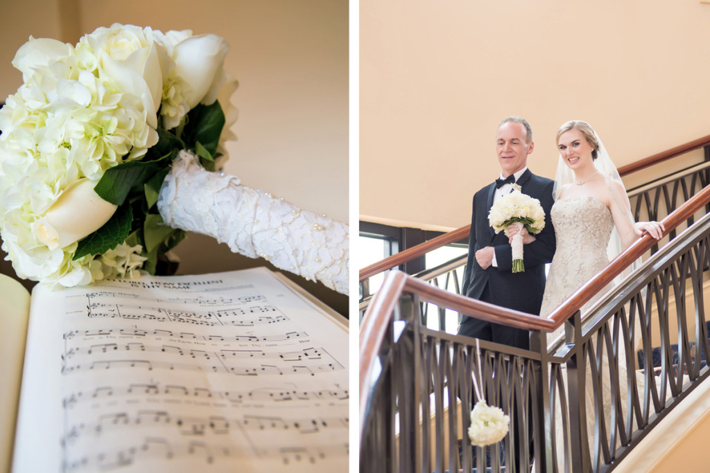 Elegant Bridal Bouquet with White Roses and Hydrangea | The Majestic Vision Wedding Planning | The Borland Center in Palm Beach, FL | www.themajesticvision.com | Enduring Impressions Photography