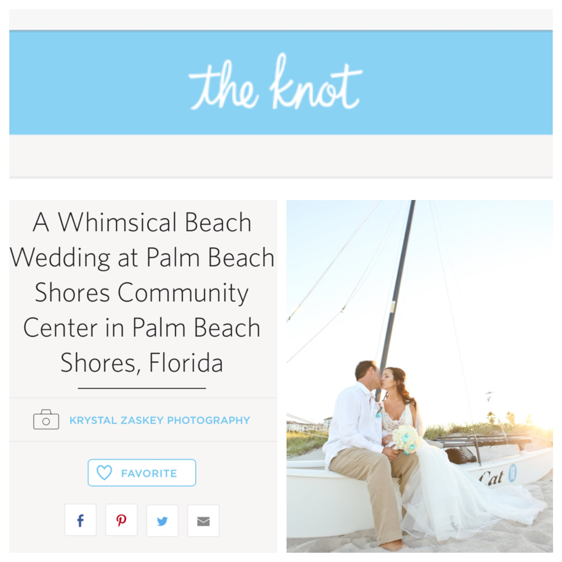 Whimsical and Elegant Beach Wedding on TheKnot | The Majestic Vision Wedding Planning | Palm Beach Shores in Palm Beach, FL | www.themajesticvision.com | Krystal Zaskey Photography