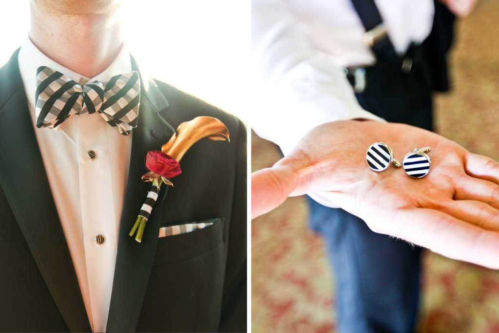 Modern Black and White Groom Accessories | The Majestic Vision Wedding Planning | Breakers West in Palm Beach, FL | www.themajesticvision.com | Krystal Zaskey Photography