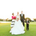 Modern and Elegant Bridal Party Portrait on Golf Course at Breakers West in Palm Beach, FL thumbnail