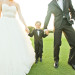 Adorable Ring Bearer with Bride and Groom on Golf Course at Breakers West in Palm Beach, FL thumbnail