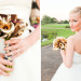 Modern Bridal Bouquet with Gold Tulips Wrapped in Black and White Fabric at Breakers West in Palm Beach, FL thumbnail