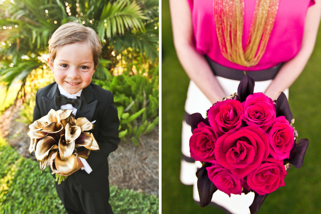 Modern Kate Spade Inspired Bridal Bouquet and Bridesmaid Bouquet | The Majestic Vision Wedding Planning | Breakers West in Palm Beach, FL | www.themajesticvision.com | Krystal Zaskey Photography