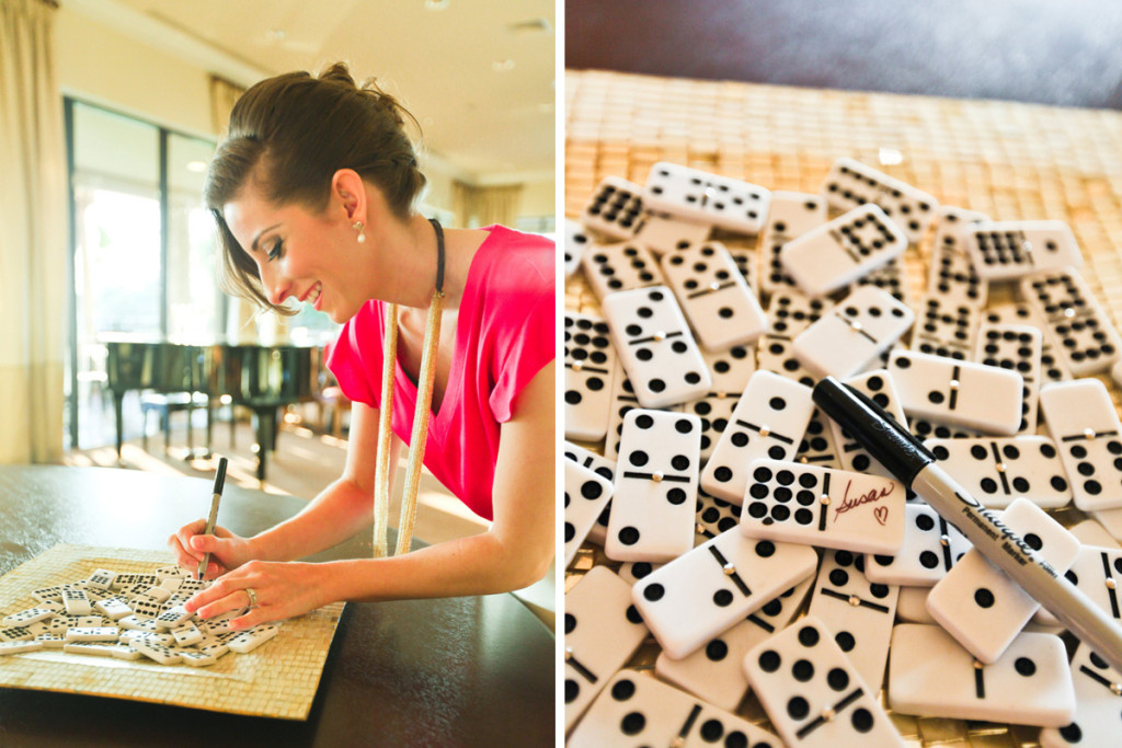 Kate Spade Inspired Modern and Elegant Domino Guest Book | The Majestic Vision Wedding Planning | Breakers West in Palm Beach, FL | www.themajesticvision.com | Krystal Zaskey Photography