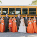 Unique Bridal Party Portrait with School Bus at Palm Beach Zoo in Palm Beach, FL thumbnail