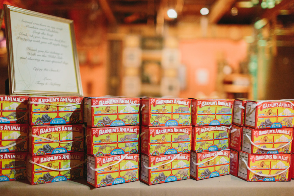 Delightful Animal Cracker Wedding Favors | The Majestic Vision Wedding Planning | Palm Beach Zoo in Palm Beach, FL | www.themajesticvision.com | Robert Madrid Photography