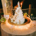 Elegant White Wedding Cake with Brooch Cascade at Palm Beach Zoo in Palm Beach, FL thumbnail