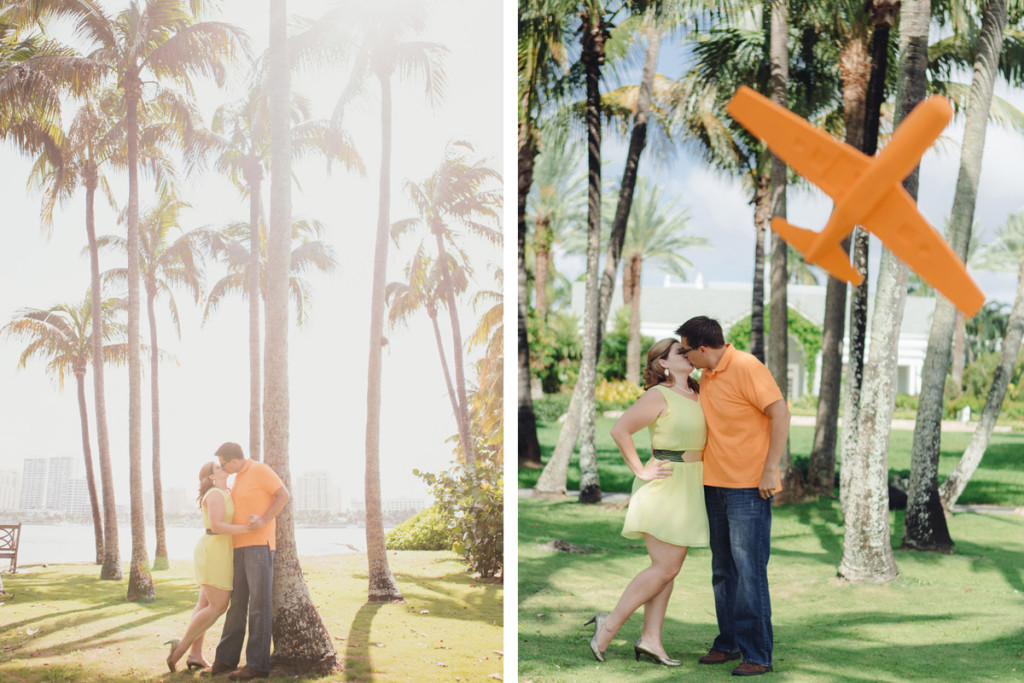 Travel Theme Engagement Session with State Cutouts | The Majestic Vision Wedding Planning | Royal Poinciana Chapel in Palm Beach, FL | www.themajesticvision.com | Robert Madrid Photography