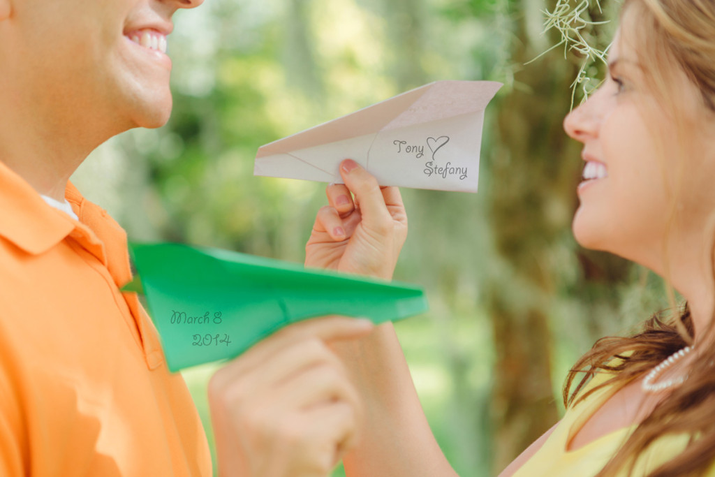 Travel Theme Engagement Session with Paper Airplanes | The Majestic Vision Wedding Planning | Royal Poinciana Chapel in Palm Beach, FL | www.themajesticvision.com | Robert Madrid Photography