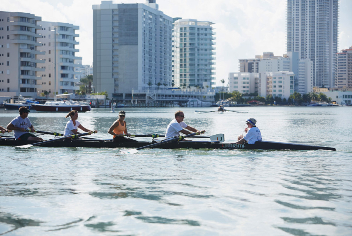Memorial Row on Biscayne Bay for Rowing Coach | The Majestic Vision Wedding Planning | University of Miami in Coral Gables, FL | www.themajesticvision.com | Emily Allongo Photography
