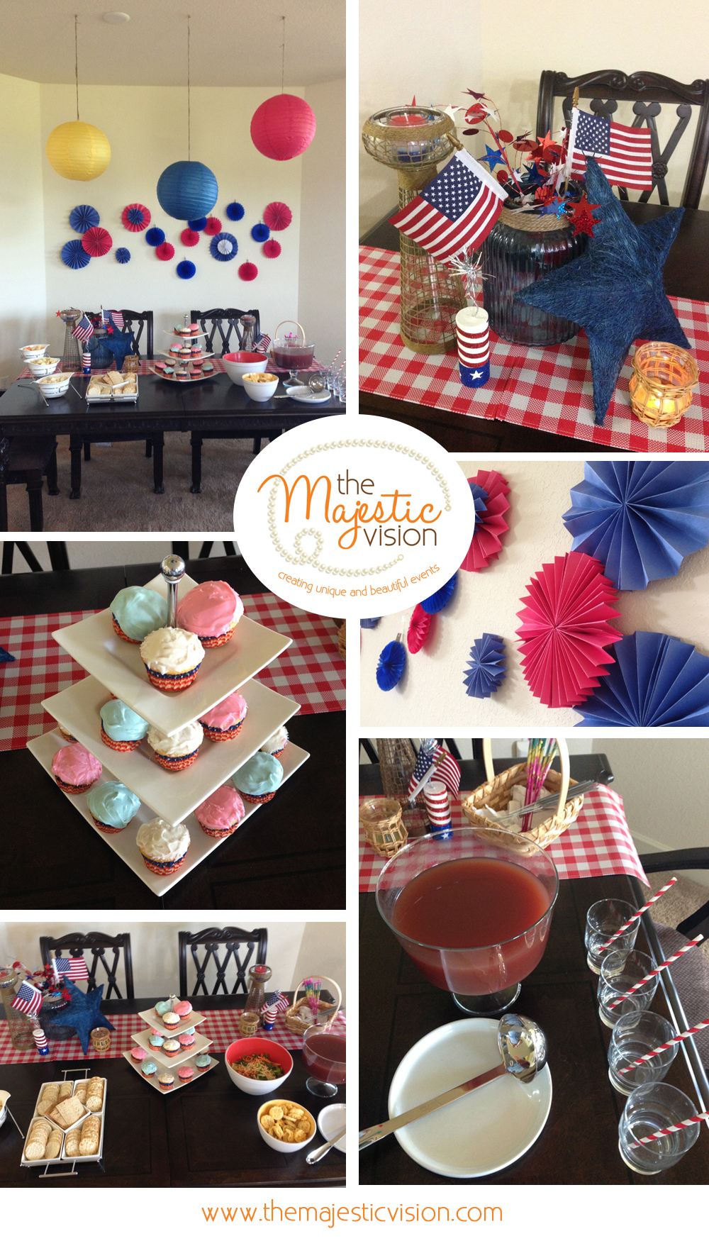 4th of July Party | The Majestic Vision Wedding Planning | Private Residence in Milwaukee, WI | www.themajesticvision.com