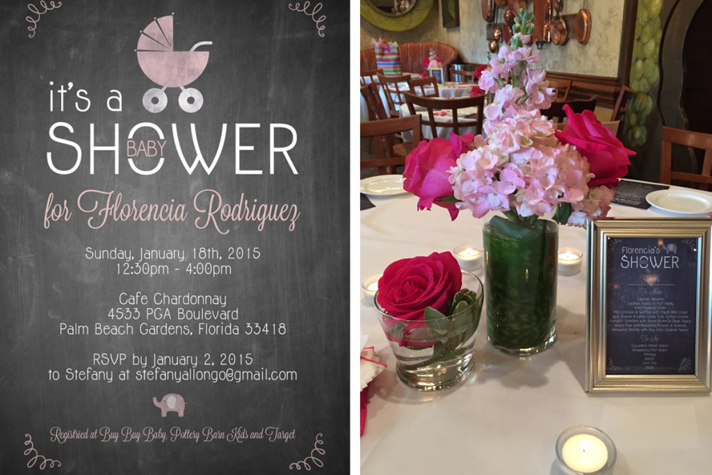 Lovely Pink and Gray Baby Shower | The Majestic Vision Wedding Planning | Cafe Chardonnay in Palm Beach, FL | www.themajesticvision.com