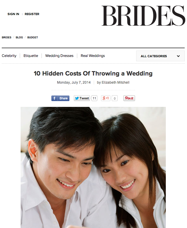 10 Hidden Costs of Throwing a Wedding on Brides.com | The Majestic Vision Wedding Planning | Palm Beach, FL and Milwaukee, WI | www.themajesticvision.com