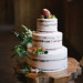 Elegant Naked Wedding Cake at Rustic Manor in Milwaukee, WI thumbnail