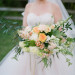 Elegant Bridal Bouquet with Cream, Blush and Pink Flowers at Rustic Manor in Milwaukee, WI thumbnail