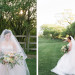 Beautiful Bride in Blush Tara Keely Gown Carrying Elegant Bridal Bouquet with Cream, Blush and Pink Flowers at Rustic Manor in Milwaukee, WI thumbnail