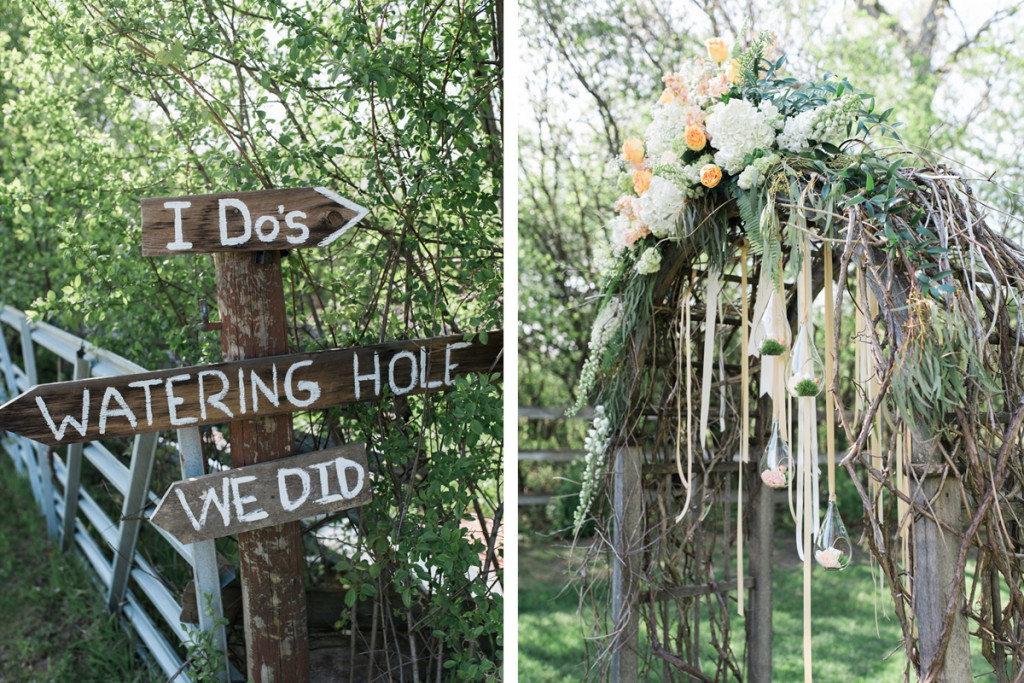 Elegant Ceremony Arch with Cream, Blush and Pink Flowers | The Majestic Vision Wedding Planning | Rustic Manor in Milwaukee, WI | www.themajesticvision.com | Elizabeth Haase Photography
