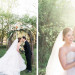 Elegant Ceremony Arch with Cream, Blush and Pink Flowers at Rustic Manor in Milwaukee, WI thumbnail