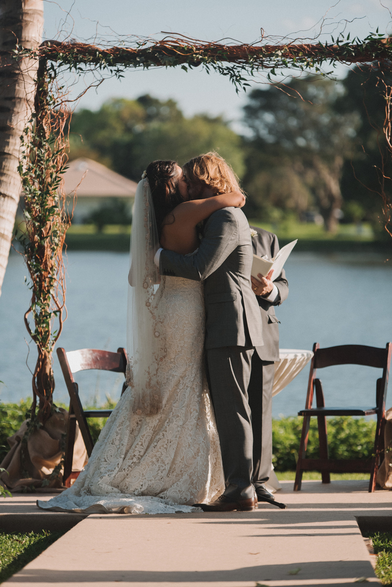 Elegant Backyard Wedding Ceremony | The Majestic Vision Wedding Planning | Palm Beach, FL | www.themajesticvision.com | Robert Madrid Photography