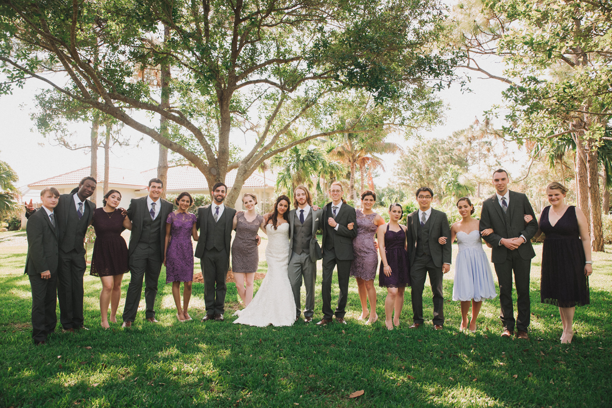Elegant Purple and Gray Wedding Party | The Majestic Vision Wedding Planning | Palm Beach, FL | www.themajesticvision.com | Robert Madrid Photography