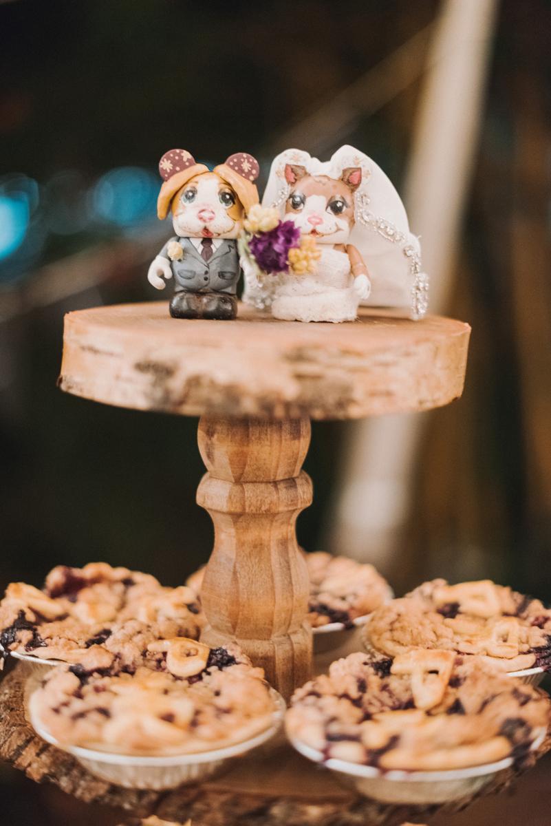 Elegant Wedding Pie Dessert Display   The Majestic Vision Wedding Planning   Palm Beach, FL   www.themajesticvision.com   Robert Madrid Photography