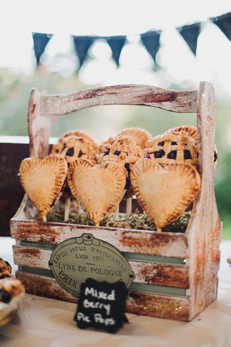 Elegant Wedding Pie Dessert Display | The Majestic Vision Wedding Planning | Palm Beach, FL | www.themajesticvision.com | Robert Madrid Photography