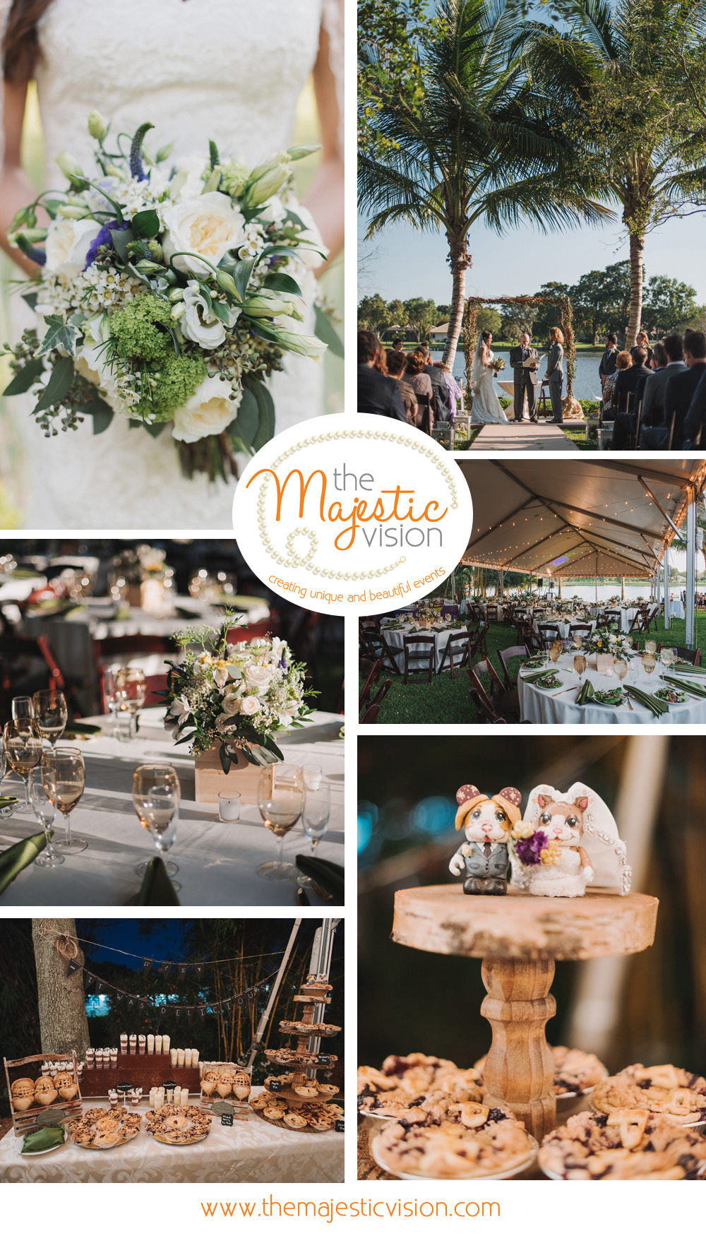 Elegant Backyard Wedding | The Majestic Vision Wedding Planning | Palm Beach, FL | www.themajesticvision.com | Robert Madrid Photography