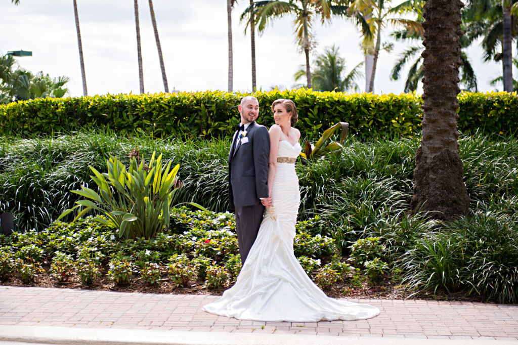 Elegant Couple Portrait | The Majestic Vision Wedding Planning | Grand Bay Club in Key Biscayne, FL | www.themajesticvision.com | Emindee Images
